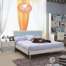 Cheap Nice Quality MDF Bedroom Furniture Modern Children Bed Sets Kids Furniture
