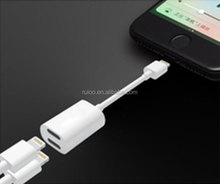 Double USB adapter cables for phone 7 hot sell dual port Y splitter cable for phone 7 charge and listen music