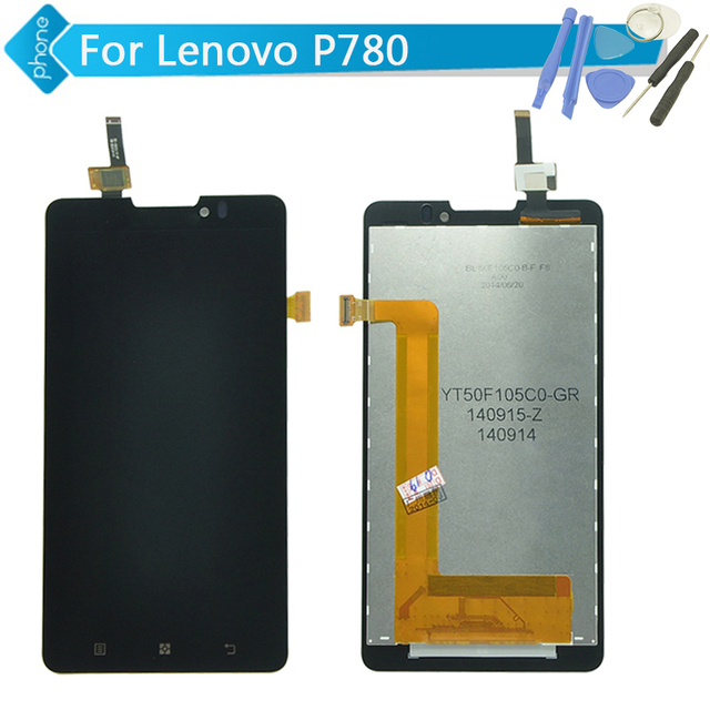 Replacement LCD Display Touch Digitizer Screen Assembly Complete For Lenovo P780 +Tools; Black