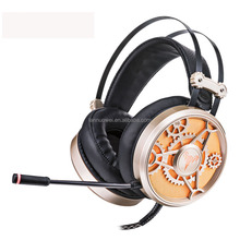 Wired Headphones Gaming Headset Headband Earphone with Microphone LED Light Headphone for PC Laptop Computer