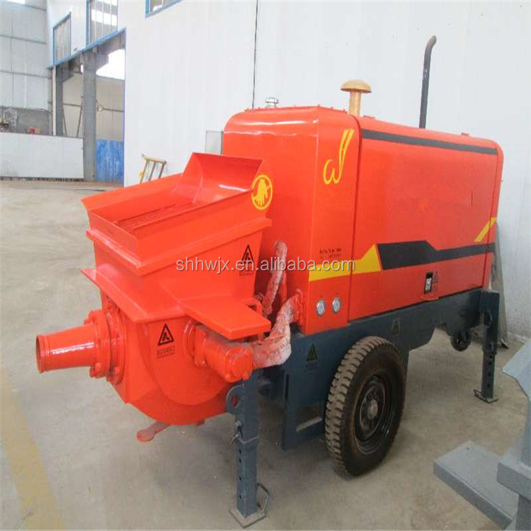 Sale Stationary trailer concrete pump concrete miner pump price