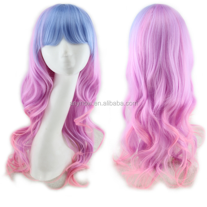 Europe and America Style Colorful Cosplay Synthetic Full Lace Front Wig