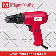 Electric hand torque drill with 10mm keyless chuck