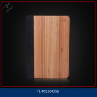 For ipad mini mobile phone accessories,environmental wood pc+pu combo special flip covering case,paypal is acceptable