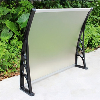 Easy-to-fit polycarbonate canopy with two plastic brackets