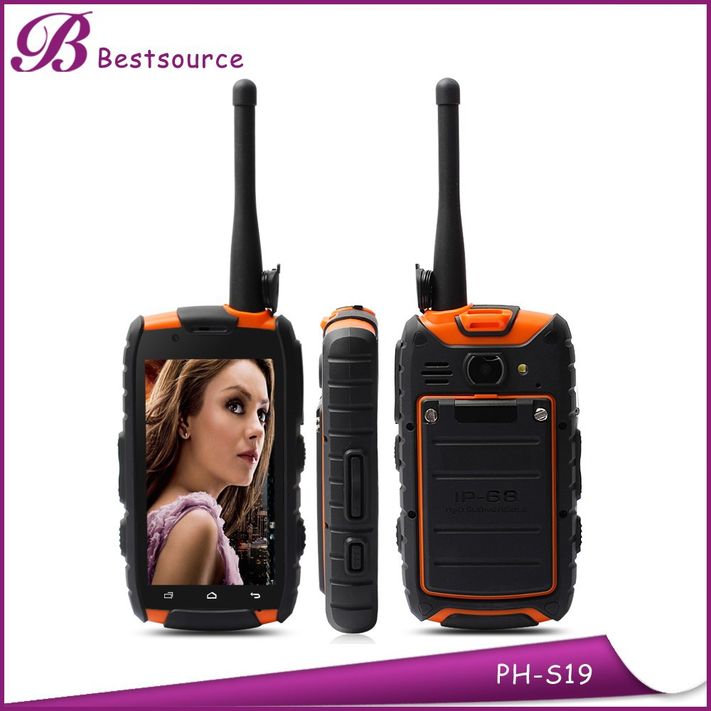 4.0inch ip68 military mtk 6589 quad core gsm walkie talkie smart phone
