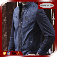 Wholesale Latest Design Collar Stand Casual Zip Jacket For Men