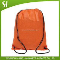 190T Polyester custom printed drawstring bags with Reinforced Corners