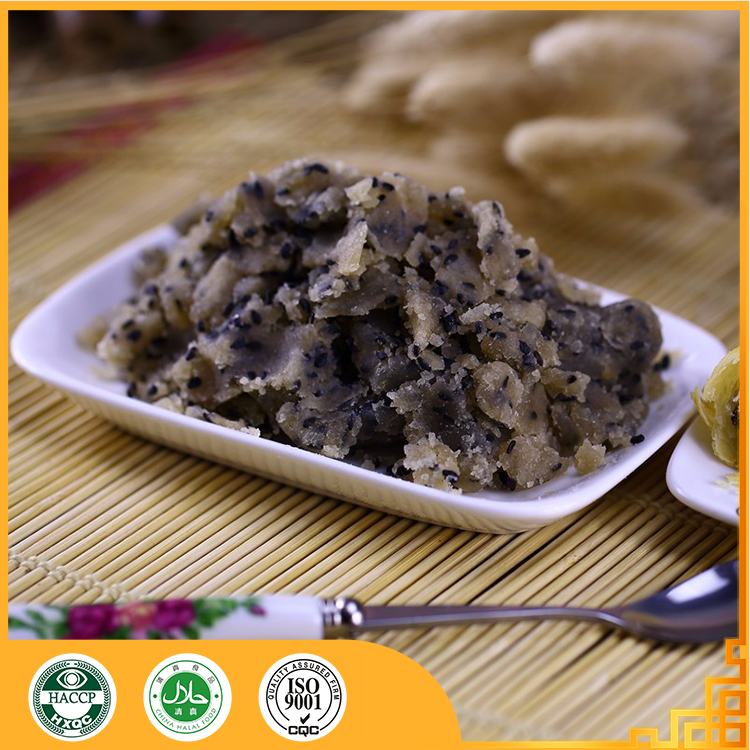 Black sesame halal pastry paste traditional chinese food cake fillings Redstar famous brand