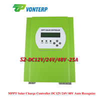 25A 48V LCD MPPT Solar battery charger controller charge Vented, Gel, NiCd, Sealed Lead Acid battery Etc MPPT PV Regulator