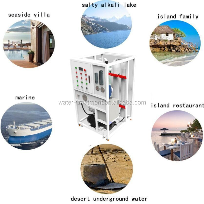 5000LPD sea water reverse osmosis desalination equipment RO system