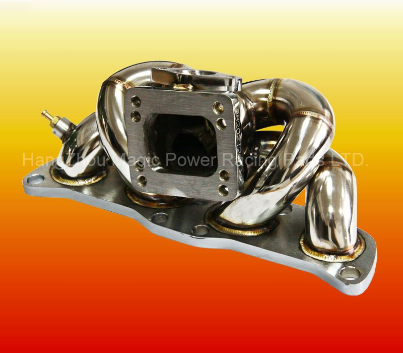 Top mount T3 Stainless Steel Turbo Exhaust Manifold for NI CA18DET