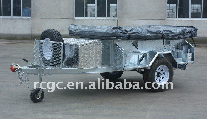 heavy duty off road hot dipped galvanized camper trailers with carancn tent