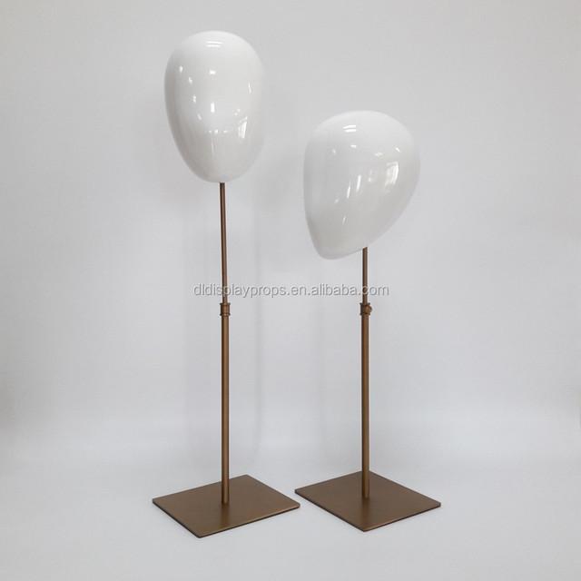DL1193 Fashion head display manenquin on sale with high ending brush golden color metal adjustable base