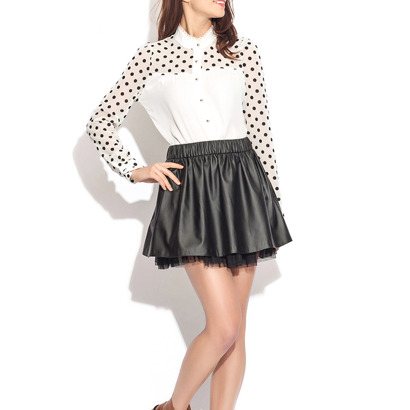High Quality Fashion Design Leather Skirt Pu Lady Skirt