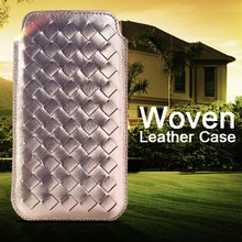 2016 Hot Newest Wholesale PU Woman Weave Leather Mobile Phone Case For Alcatel One Touch Pop Icon 7040T