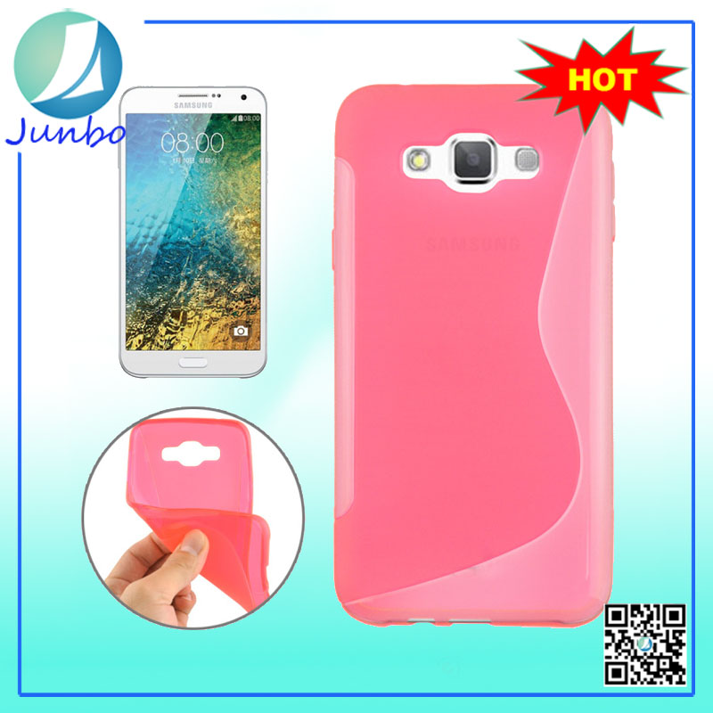 Silicone Cover for Samsung Galaxy E7 tpu s line case for samsung galaxy e7