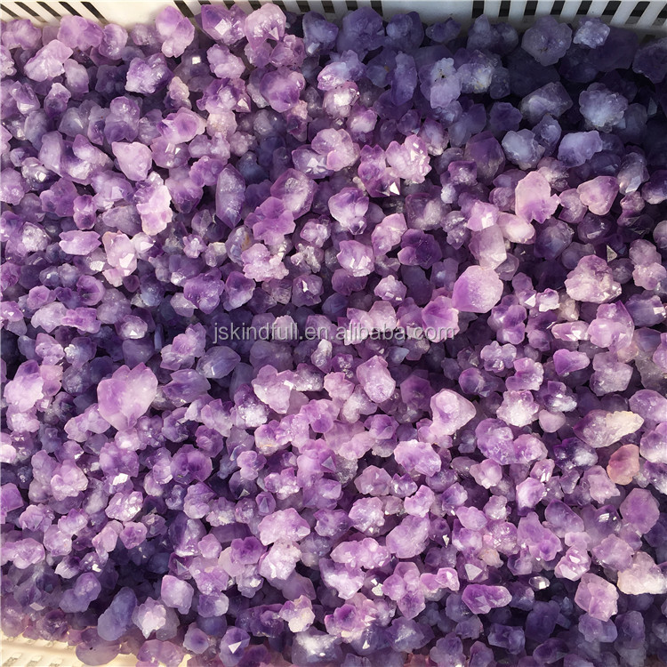 wholesale natural amethyst Gravel Cluster Rough stone Quartz crystal Macadam For Raw material