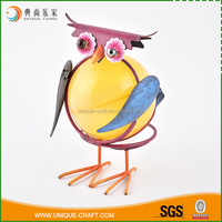Best quality colorful owl metal ornaments garden decoration for sale