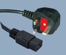 UK BS1363 to IEC C19 UK power supply cord