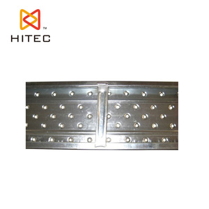 Anti-slip 210 Width Galvanized Scaffold Metal deck Plank with 10mm Hole for sale