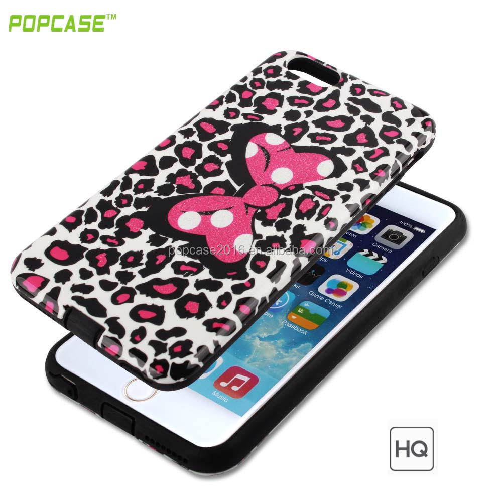 2016 new products Gummy combo case Full protective 2 In 1 PC+TPU mobile phone case for Iphone 6S 6G