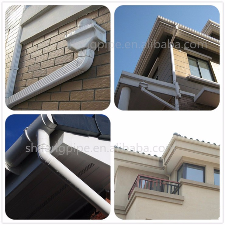Plastic Pvc Rain Gutters For Roofing Drainage Buy