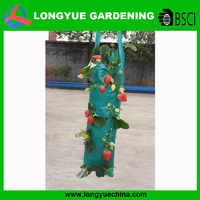 Garden use long plastic fabric hanging plant bags