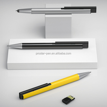 2015 new patent design lacquered colored promotional metal stylus usb with ballpen