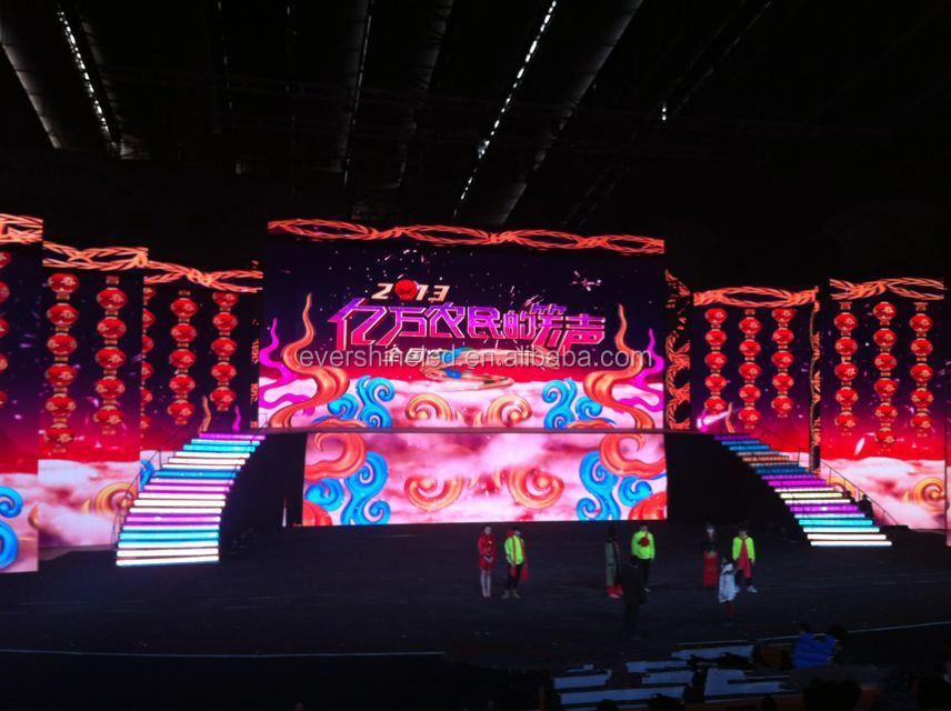 P2.5/P3/P4/P5/P6 Indoor stage LED display in rental aluminum thin light weight cabinet
