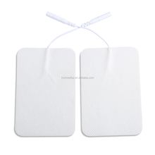 TENS EMS electric conductive gel pads muscle stimulator 5*10cm pigtail electrode pads