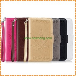 3D Embossed leaves Wallet Pouch Stand Flip Leather case for Samsung Galaxy s8