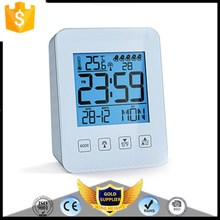 KH-0173 MSF/DCF/WWVB Digital Radio Controlled Wave Alarm Clock Thermometer with Snooze FunctionTemperature Calendar Display