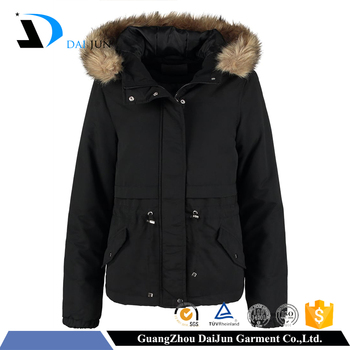 2016 new design windproof cotton nylon black color zipper buttons custom logo unisex men women's jacket