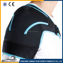 Free Sample Adjustable Hot Cold Sports Therapy Back Shoulder Brace Shoulder Pad Wrap Support Belt Sports