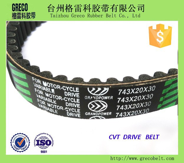Extend low rate motorcycle v belt