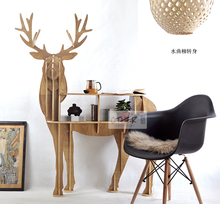 New design European 100% birch wood elk edge table deer shape animal rack ornaments home decorations