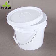 2.5 Litre plastic containers paint clear drum with white lid and metal handle