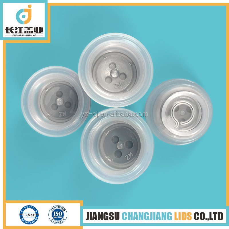 28mm pull ring euro caps for plastic bottle