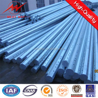 BV 2.75mm Thickness Polygonal 12m galvanized steel gate pole factory