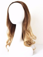 Premium Quality Virgin Remy Hair 3/4 Wig Straight Wave Ombre Color Wholeslae
