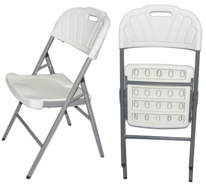 Plastic Folding Garden Flower Chairs With Metal Legs For