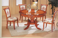 Classic solid wooden dining chair foshan dining room set