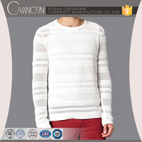 custom pierced white pullover man winter sweater