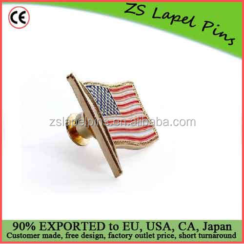Custom design and logo U.S. Flag Lapel Pin