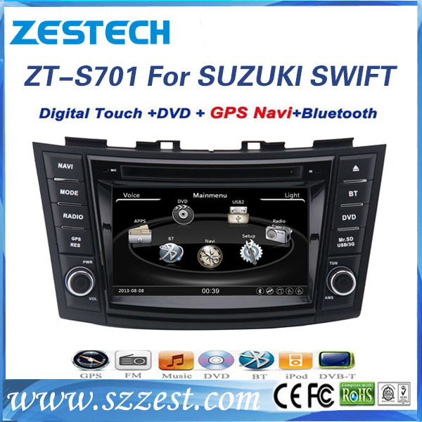 ZESTECH In dash for suzuki swift car player with gps navigation/vcd/cd player/radio/BT