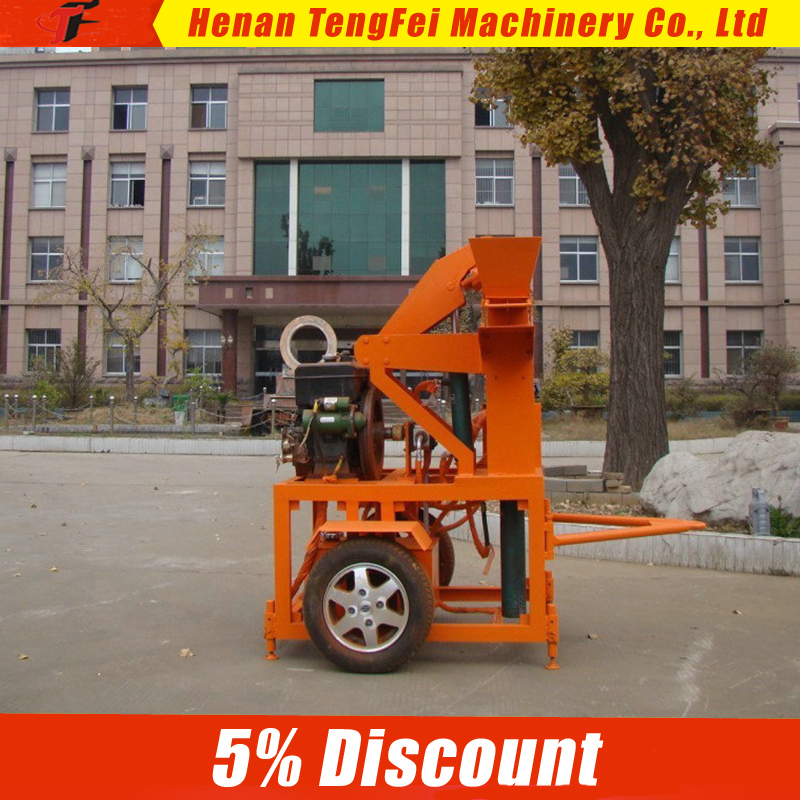 Tengfei 1-20 hydraulic interlocking soil brick making machine/clay interlock brick machine/face color block making machine