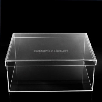 Logo Print Clear Acrylic Storage Box For Nike Shoes