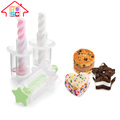 Plastic Mini Ice Cream Sandwich Maker,Home Portable Ice Cream Sandwich Maker and Cutter for Kids