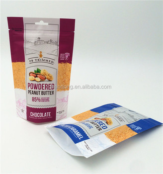 Matte outside peanut packaging stand pouch with zipper